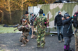 Crew during paintball