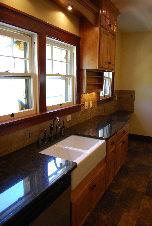 Fire damaged kitchen sink - after