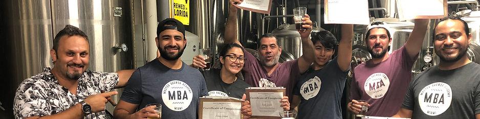 Beer School Graduaton