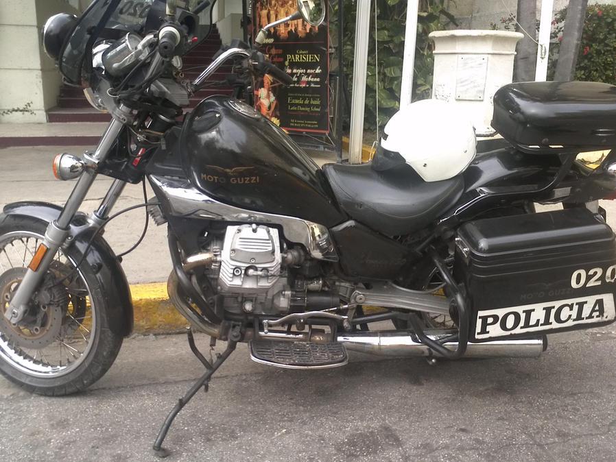 Moto Guzzi Police Motorcycle in Cuba