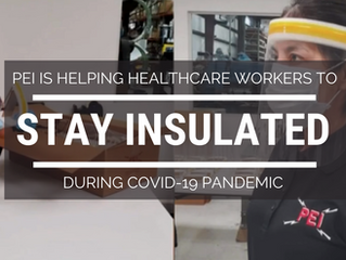 PEI Featured on Local News for Face Shield Donations to Healthcare Workers