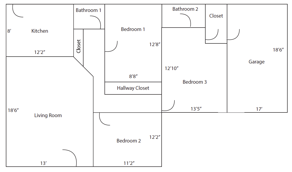 1025 El Embarcadero - Unit B - Layout