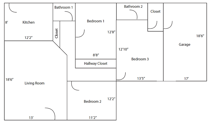 1025 El Embarcadero - Unit B - Layout.pn
