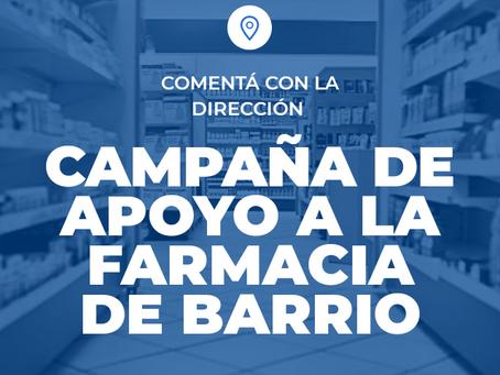 CAMPAÑA DE APOYO A LA FARMACIA DE BARRIO en Argentina