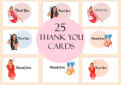 25 Digital Download Thank You Cards