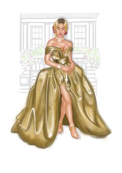 Girl_golden_dress_background