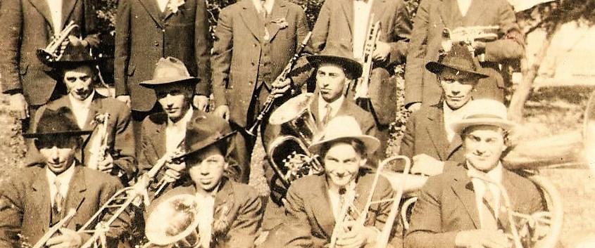 4 Church Band At Fred Olhrogge's 1919.JP