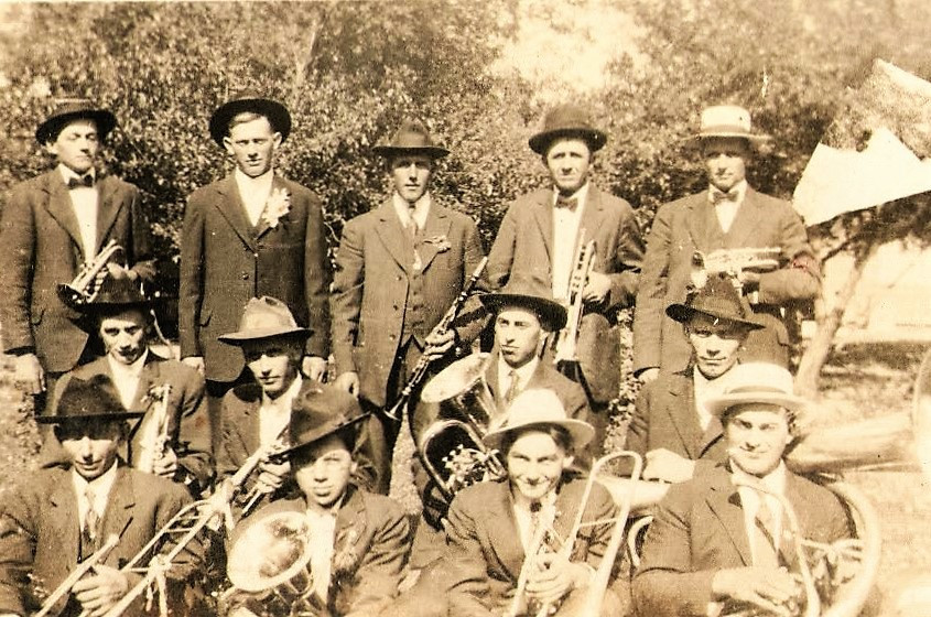 4 Church Band At Fred Olhrogge's 1919.JP