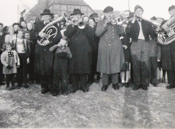 German Band Bounke Germany about 1948 Ma