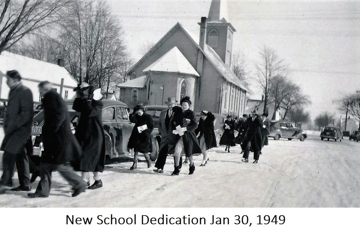 10 Dedication Of new School Jan 30 1949.