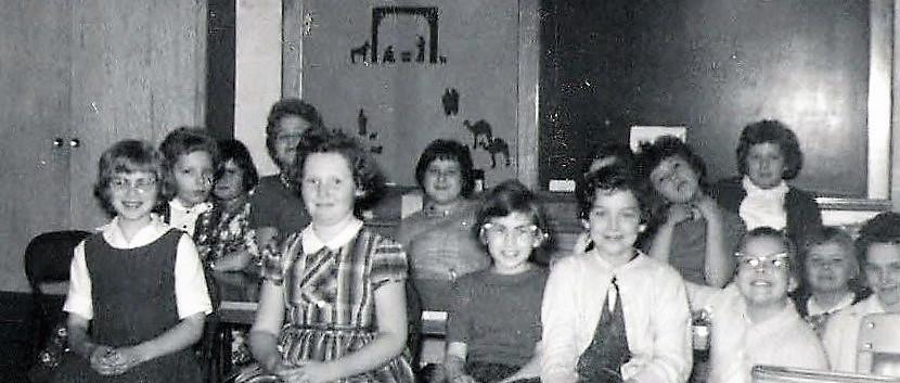 1961 Dec. Cross School Girls.JPG