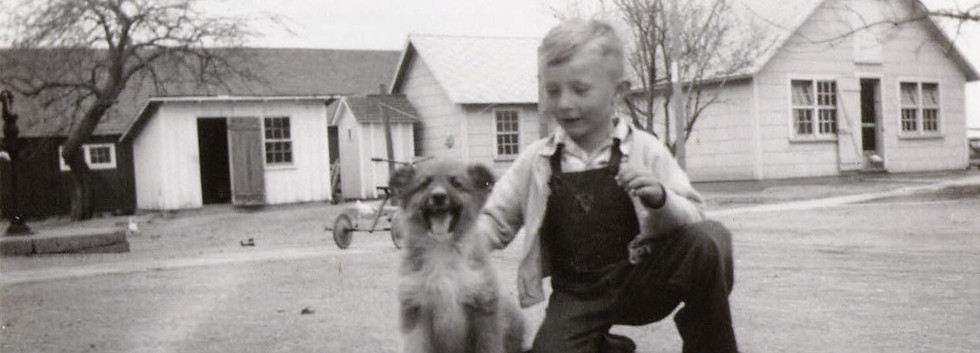 1950ab Ron Schulz and dog.JPG