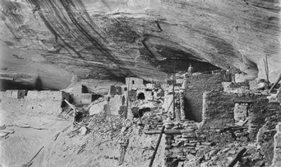 Navajo - Keet Seel cliff dwellings 1905