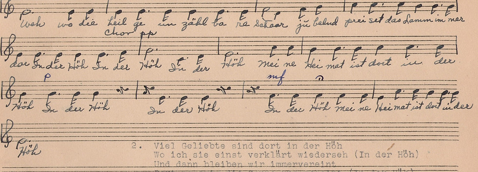 Music from Fred Buchholz Song Book Alto.