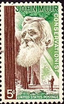 John Muir -- 1964 U.S. commemorative sta
