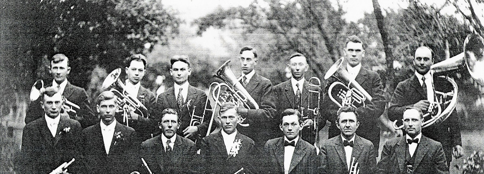 3 Church Band  1919 at Fred and Anna Ohl