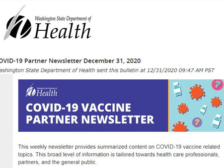 COVID-19 Partner Newsletter December 31, 2020