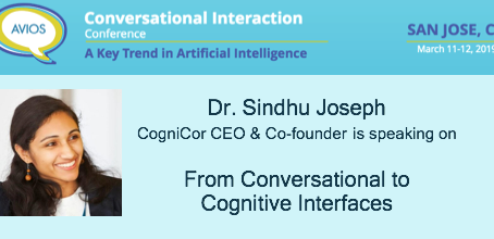 CogniCor is speaking at Conversational Interaction Conference, San Jose