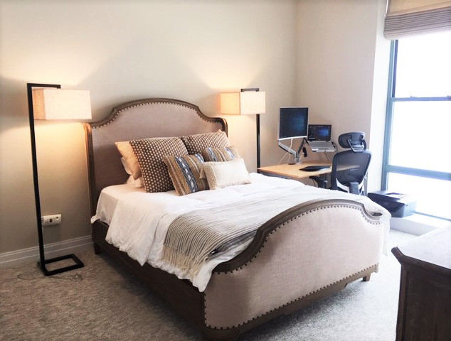Large bedroom with working station