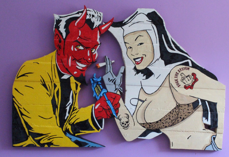 Monja y demonio