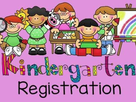 Kindergarten Round-Up April 22, 2021 from 4:00-6:30 pm