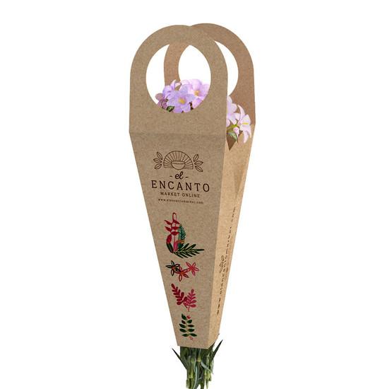 Empaque personalizado - caja para flores