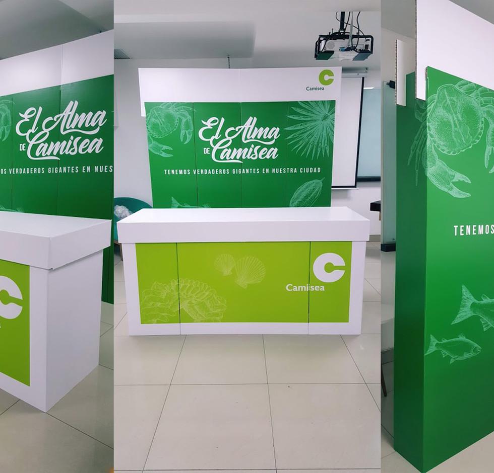 Stand ecológico para Camisea en Lima - P