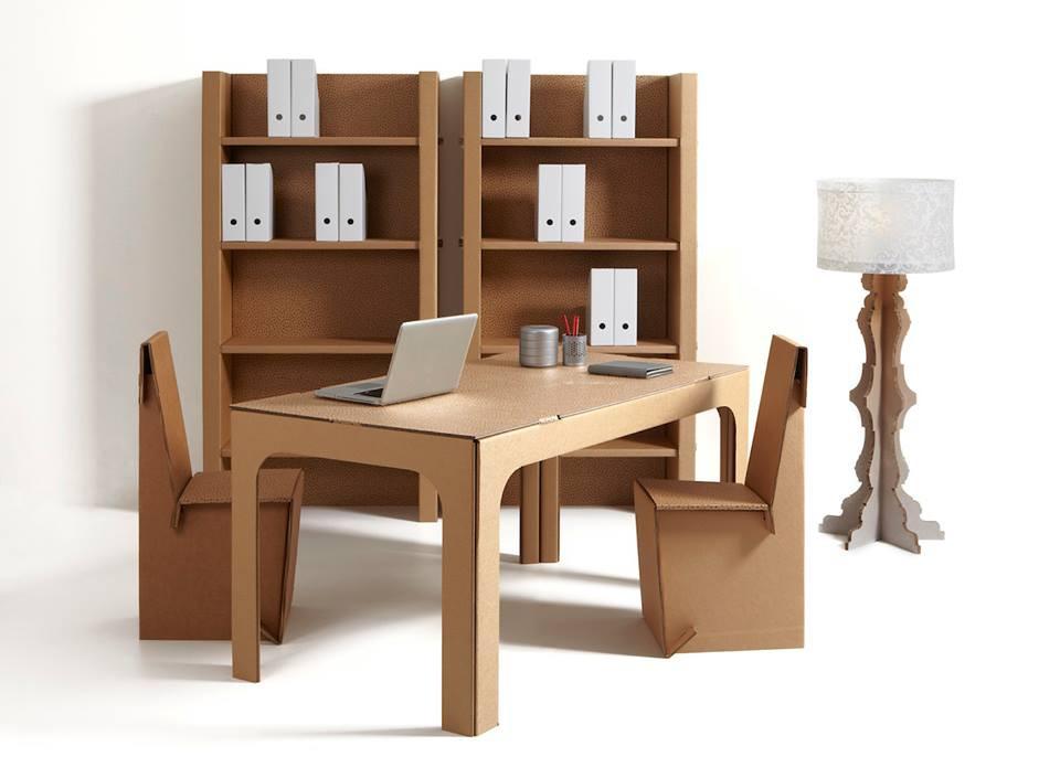 Mobiliario ecológico de cartón