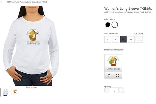 RCV long sleeved white women's tshirt