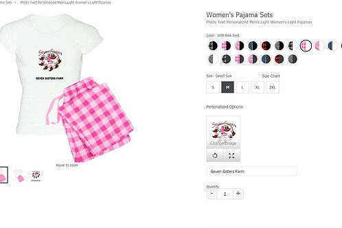 Seven Sisters Farm Pink Country Gingham Pajamas