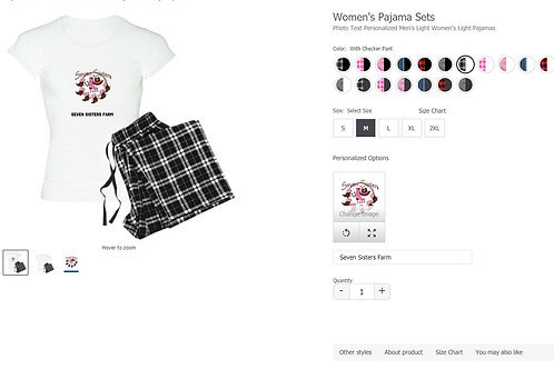 Seven Sisters Farm Black & White plaid pajamas