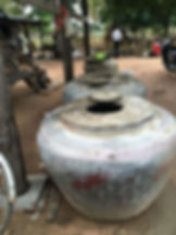 Water pots in the village #Cambodia
