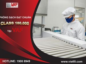 Bật Mí – Phòng Sản Xuất Lọc Cao Cấp Đạt Chuẩn Class 100.000 (ISO 8 trong bộ ISO 14644-1) Tại VAF