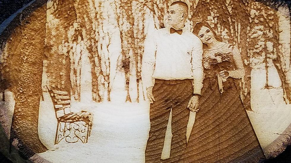 Custom Wedding Photo Engraving