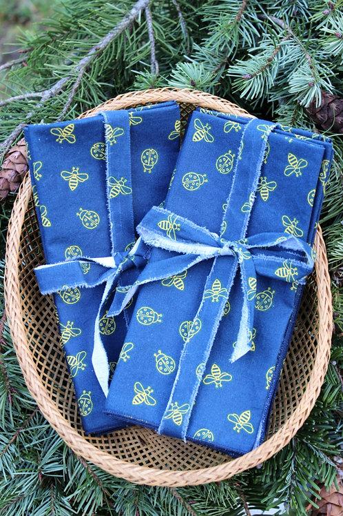 Botanical Bees Cloth Napkins