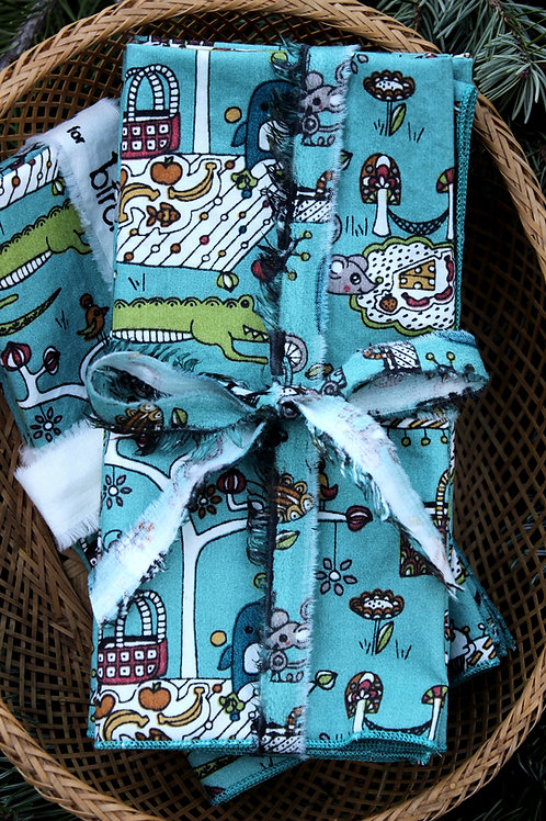 Cute Picnic Organic Cloth Napkins