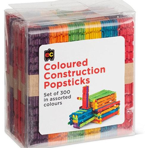 Construction Popsticks Coloured Packet 300