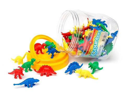 Dinosaur Counters Jar Of 64