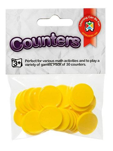 Counters Yellow Pack of 30