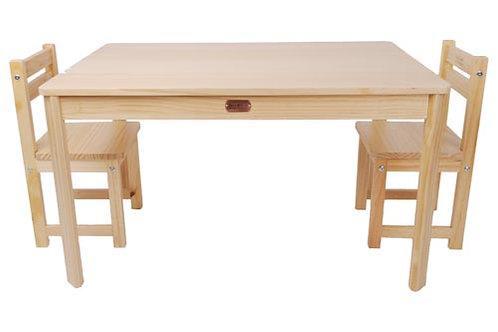 Tikk Tokk Little Boss Table and Chairs Set Rectangle - Natural