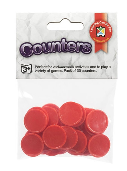 Counters Red Pack of 30