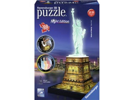 Ravensburger Statue of Liberty at Night 3D Puzzle 216 pieces
