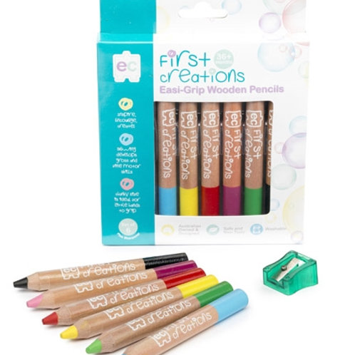 Easi-Grip Wooden Pencils Pack of 6 or 12