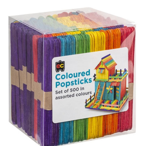 Popsticks Coloured Packet 500