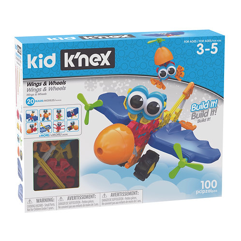 K'nex Wings and Wheels Building Set