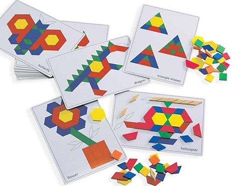 Pattern Block Picture Cards 20pcs