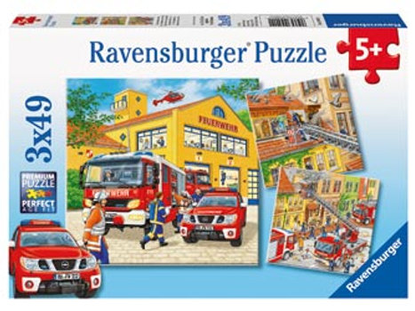Ravensburger - Fire Brigade Run Puzzle 3x49 pieces