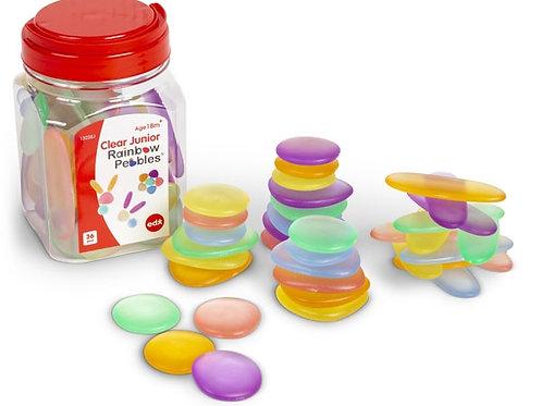Clear Junior Rainbow Pebbles Jar of 36