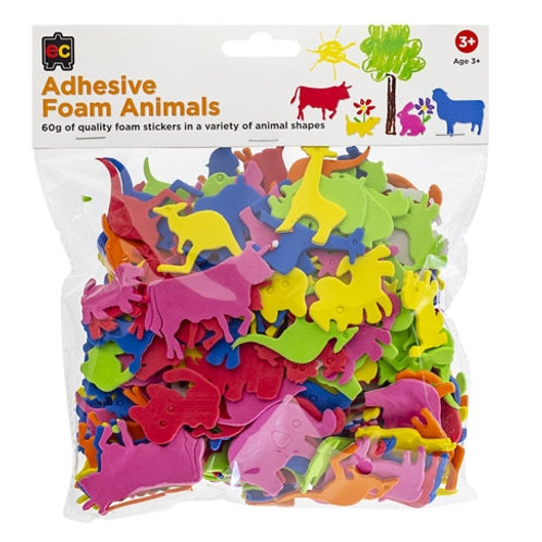 Adhesive Foam Animals 60gm