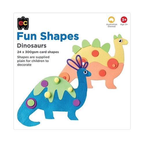 Fun Shapes Dinosaur 24pc 225 x 225mm Hangsell